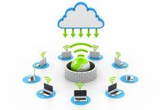 Asegure los dispositivos de la red de ordenadores Foto de archivo libre de regalías