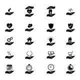 Asekuracyjna ikona ustawiająca - wektorowa ilustracja ilustracji
