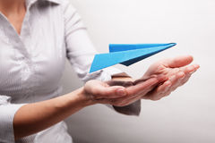 Asekuracyjni loty (pojęcie) Zdjęcie Stock