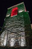 Asen的堡垒在晚上 免版税库存图片