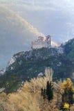 Asen的堡垒在阿塞诺夫格勒,保加利亚 库存图片