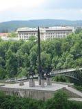 asen-monument-and-stambolov-bridge Royalty Free Stock Image