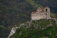 Asen ` s forteca jest średniowiecznym fortecą w Bułgarskim obraz royalty free