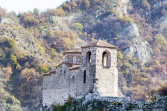 Asen's Fortress in Asenovgrad,Bulgaria. ASENOVGRAD,BULGARIA-25.09.15 : Asenova Krepost near Asenovgrad, Bulgaria on a autumn mountain background stock photo