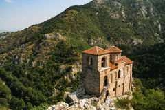 Asen's Fortress Church of the Holy Mother of God Asenovgrad Bulgaria. Asen's Fortress and Church of the Holy Mother of God, 11th Century, near Asenovgrad in stock photo