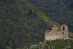 Asen`s Fortress is a medieval fortress in the Bulgarian Royalty Free Stock Image