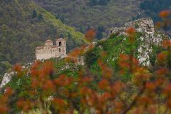 Asen`s Fortress is a medieval fortress in the Bulgarian Stock Photography