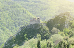 Asen`s Fortress Near Asenovgrad Town, Bulgaria stock image