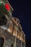 Asen's Fortress at night. Asen's Fortress and Saint Mary church near Asenovgrad, Bulgaria stock photos