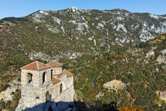 ASENOVGRAD, BULGARIA - 1 OCTOBER 2016: Autumn view of Asen`s Fortress, Asenovgrad, Bulgaria royalty free stock photo