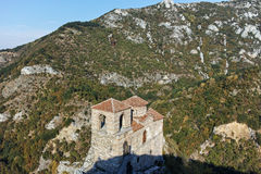 ASENOVGRAD, BULGARIA - 1 OCTOBER 2016: Autumn view of Asen`s Fortress, Asenovgrad, Bulgaria royalty free stock photos