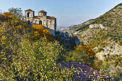 ASENOVGRAD, BULGARIA - 1 OCTOBER 2016: Autumn view of Asen`s Fortress, Asenovgrad, Bulgaria royalty free stock photos