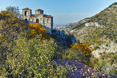 ASENOVGRAD, BULGARIA - 1 OCTOBER 2016: Autumn view of Asen`s Fortress, Asenovgrad, Bulgaria stock image
