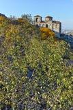 ASENOVGRAD, BULGARIE - 1ER OCTOBRE 2016 : Vue d'automne de forteresse du ` s d'Asen, Asenovgrad, Bulgarie Image stock