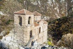 Asens fästning i Asenovgrad, Bulgarien Arkivfoton