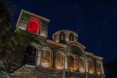 Asens fästning på natten royaltyfri fotografi