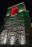Asens Festung nachts lizenzfreie stockbilder