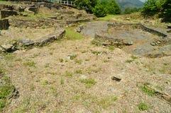 Asentamient de la edad de bronce Era un puerto comercial en la era romana, llamada Castro Of The Castros In Taramundi, Asturias,  imagen de archivo