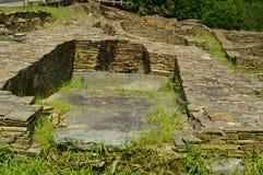 Asentamient de la edad de bronce Era un puerto comercial en la era romana, llamada Castro Of The Castros In Taramundi, Asturias,  fotos de archivo