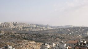 Asentamientos israelíes en el territorio palestino disputado metrajes