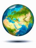 Aserbaidschan auf Erde mit weißem Hintergrund Lizenzfreie Stockbilder