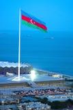 Aserbaidschan-Flagge stockfoto