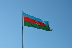 Aserbaidschan-Flagge Lizenzfreies Stockbild