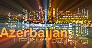 Aserbaidschan-Hintergrundkonzeptglühen Lizenzfreie Stockbilder