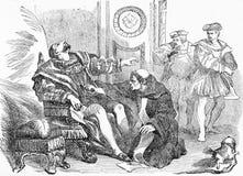 Asesinato de Henry III, rey de Francia ilustración del vector