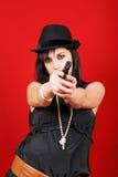 Asesino de señora joven Imagen de archivo libre de regalías