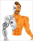 ASESINO DEL ROBOT DEL CYBORG ilustración del vector