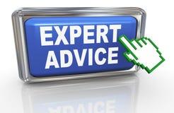 asesoramiento de experto del cursor de la mano 3d Foto de archivo libre de regalías