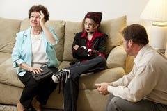 Asesoramiento de la familia - en crisis Imágenes de archivo libres de regalías
