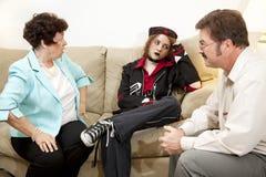Asesoramiento - exasperación Foto de archivo libre de regalías