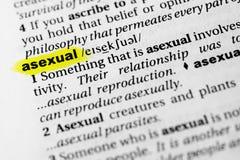 Definicion de la palabra asexualmente