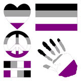 Asexual pride design elements. Stock Image