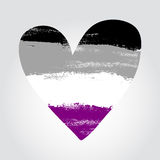 Asexual pride flag in a form of heart with Stock Photography
