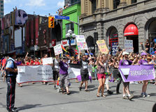Asexuals at Pride Parade in Toronto Stock Photos