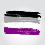 Asexuell stolthetflagga i en form av borsteslaglängden Fotografering för Bildbyråer