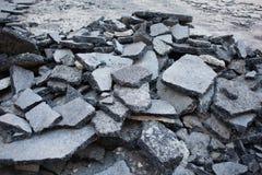 asfalt łamający zdjęcie stock