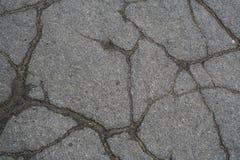 asfalt pękający Obrazy Royalty Free