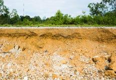asfalt under lagervägen smutsar Royaltyfri Foto