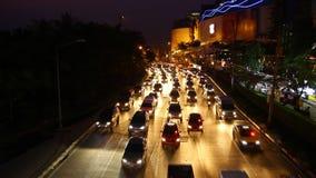 asfaltbilar sitter fast den seamless trafikvektorwallpaperen lager videofilmer