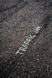 asfaltbilar sitter fast den seamless trafikvektorwallpaperen Fotografering för Bildbyråer