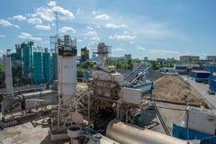 Asfaltfabriek Rusland Moskou Dorohovo st 2 2016-05-26 Royalty-vrije Stock Fotografie