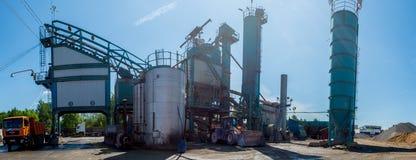 Asfaltfabriek Rusland Moskou Dorohovo st 2 2016-05-26 Royalty-vrije Stock Foto