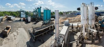 Asfalti la st 2 2016-05-26 della Russia Mosca Dorohovo della fabbrica Immagini Stock