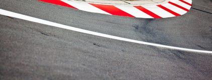 Asfalto da raça de carro Fotos de Stock Royalty Free