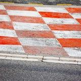 Asfalto della corsa di automobile Immagini Stock