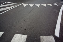 Asfalto e bordo della corsa di automobile Fotografia Stock